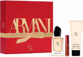 GIORGIO ARMANI Armani si סט א.ד.פ + קרם גוף + שפתון בגודל מיוחד לאשה