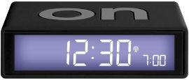 LEXON שעון FLIP שחור גומי