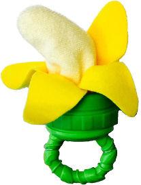סאסי מצנן נשכן לחניכיים עם ידית -  בננה