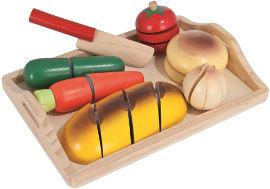 באלי טוי ערכת ארוחת בוקר מעץ - 8 חלקים.