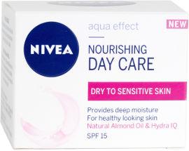 NIVEA AQUA EFFECT MOISTURIZING DAY CARE קרם לחות לעור יבש/רגיש