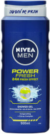 NIVEA POWER FRESH ג'ל רחצה לגבר