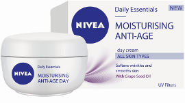 NIVEA DAILY ESSENTIALS MOISTURIZING ANTI AGE קרם יום לכל סוגי העור 35+
