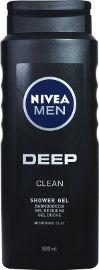 NIVEA ג'ל רחצה לגבר DEEP לגוף, פנים ושיער