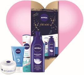 NIVEA מארז לאשה המכיל: תחליב גוף + דאודורנט ספריי + ג'ל ניקוי פנים + קרם סופט רב שימושי