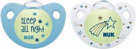 נוק זוג מוצצים זוהרים בחושך לגילאי 6-18 חודשים