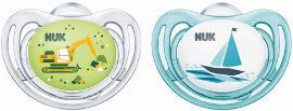נוק זוג מוצצים פריסטייל לגילאי 0-6 חודשים
