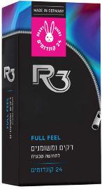 R3 קונדומים דקים ומשומנים לתחושה טבעית
