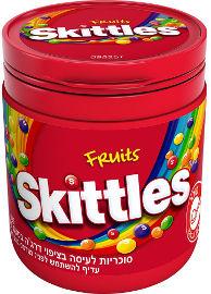 סקיטלס סוכריות לעיסה בציפוי דרג'ה בטעם פירות בקבוקון
