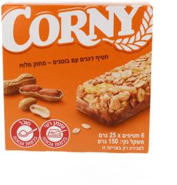 קורני קורני חטיף דגנים עם בוטנים מתוק-מלוח