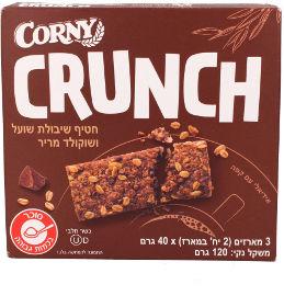 קורני קראנצ' חטיף שיבולת שועל ושוקולד מריר