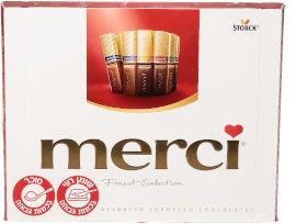 מרסי מבחר ממתקי שוקולד חלב, מריר ולבן ב- 8 טעמים
