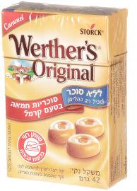 וורטרס אורגינל סוכריות חמאה ללא סוכר