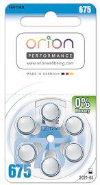 ORION סוללות מכשירי שמיעה גודל 675 תוצרת גרמניה
