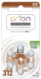 ORION סוללות מכשירי שמיעה גודל 312 תוצרת גרמניה