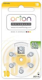 ORION סוללות מכשירי שמיעה גודל 10 תוצרת גרמניה
