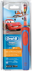 אורל בי בראון מברשת שיניים חשמלית לילדים-CARS
