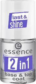 Essence 2ב1 בסיס& טופ לציפורניים