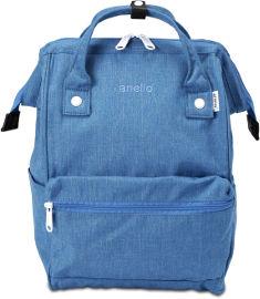 anello תיק גב M לוגו רקמה ג'ינס כחול B2261-BL