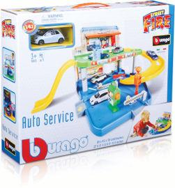 Bburago Bburago חניון + מכונית 2 מפלסים