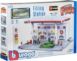 Bburago Bburago תחנת דלק + מכונית