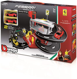 Bburago Bburago  חניון פרארי + 2 מכוניות 3 מפלסים