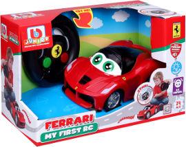Bburago Bburago מכונית פרארי + שלט תנועה לנהג הצעיר