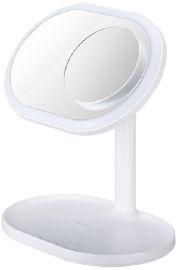 MOMAX רמקול מראת איפור עם טעינה אלחוטית ותאורה LED