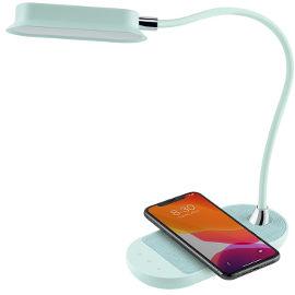 MOMAX מנורת לד שולחנית עם טעינה אלחוטית 10W לבן