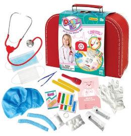 צעצועי מלניק מזוודת משחק רופא מפוארת עם סטטוסקופ עובד ואביזרים נוספים
