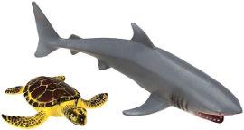 National Geographic מארז חיות ים- כריש וצב ים