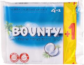 באונטי מארז חטיפי שוקולד וקוקוס 4+1