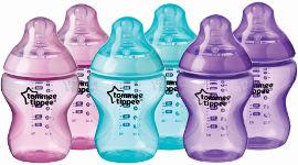 """טומי טיפי סט בקבוקי טומי טיפי מהודרים שקופים 260 מ""""ל בנות במהדורה מיוחדת"""