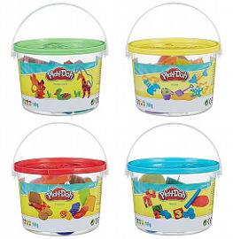 Play-Doh דלי עם 3 צבעים ואביזרים פליידו