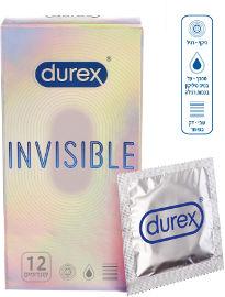 דורקס INVISIBLE קונדומים אקסטרה דקים