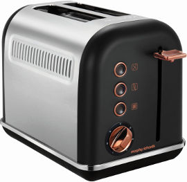 MORPHY RICHARDS מצנם 2 פרוסות ROSE GOLD שחור דגם 222016