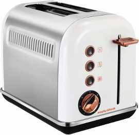 MORPHY RICHARDS מצנם 2 פרוסות ROSE GOLD לבן דגם 222018
