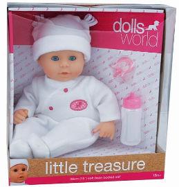 DOLLS WORLD בובת תינוקת אוצר קטן לבן