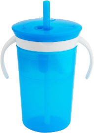 Munchkin כוס שתיה משולבת מתקן לחטיפים כחול 11086