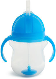 Munchkin כוס פטנט משקולת  צבע כחול 11888