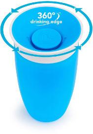 Munchkin כוס הפלא 360 - 296 מל צבע כחול -  1209601