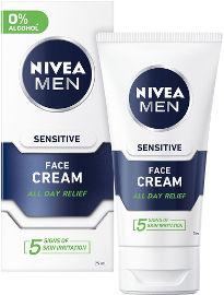 NIVEA לגבר קרם לחות לפנים לעור רגיש