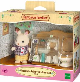 משפחת סילבניאן ערכת אח עם חדר רחצה שוקולד