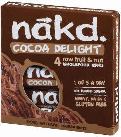 NAKD חטיף פירות, אגוזי קשיו וקקאו ללא גלוטן