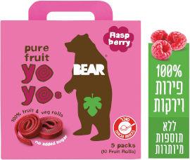 BEAR חטיף 100% פרי שילדים אוהבים בטעם פטל