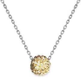 קריסטל סברובסקי שרשרת פאווה קריסטל עשויה מכסף בציפוי זהב ומשובצת