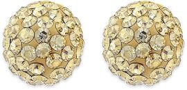 SWAROVSKI עגילי פאווה קריסטל עשויים מכסף בציפוי זהב ומשובצים קריסטלים