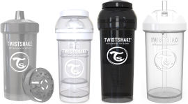 "TWISTSHAKE מארז לידה 6 חודשים ומעלה- 1 בקבוק 260 מ""ל, 1 בקבוק 330 מ""ל , כוס מעבר 360 מ""ל, כוס עם קש 360 מ""ל"