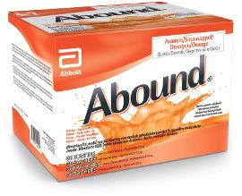 אבוט תזונה אבאונד - משקה להשלמה תזונתית במצבים הדורשים תמיכה באיחוי פצעים או בבניית מסת גוף כחוש בטעם תפוז