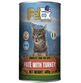 PETEX שימורי מזון מלא לחתולים במרקם פטה עם בשר הודו ללא דגנים וללא גלוטן